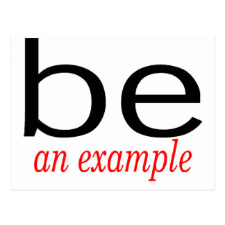 Be An Example Postcard