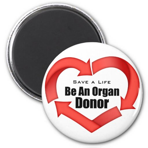 Be An Organ Donor 2 Inch Round Magnet