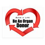 Be An Organ Donor Postcards