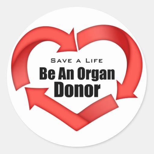 Be An Organ Donor Sticker