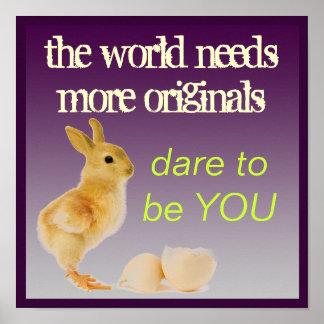 Be An Original YOU Poster