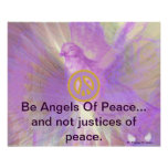Be Angels Of Peace Purple Dazzling Wings Poster