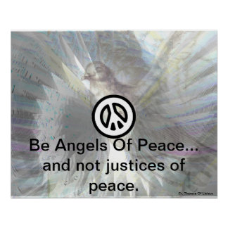 Be Angels Of Peace Silver Dazzling Wings Poster