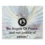 Be Angels Of Peace White Dazzling Wings Poster