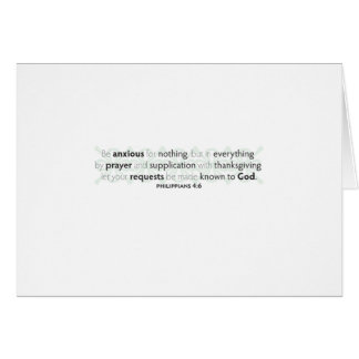 Be Anxious for Nothing Stationery Note Card
