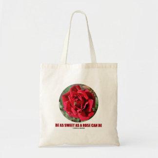 Be As Sweet As A Rose Can Be (Bee On A Red Rose) Budget Tote Bag