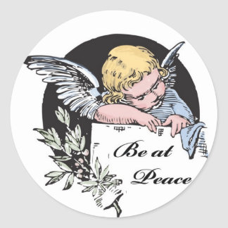 Be at Peace Angel Classic Round Sticker