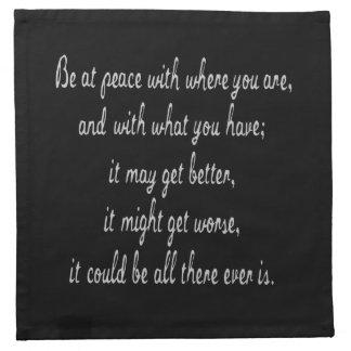 Be At Peace Napkin