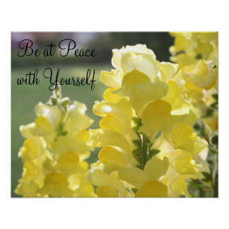 Be at Peace with Yourself Poster
