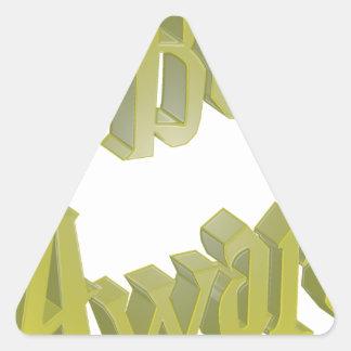Be Aware 3DD 3D Design Triangle Stickers