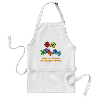 BE AWARE - April is Autism Awareness Month Adult Apron