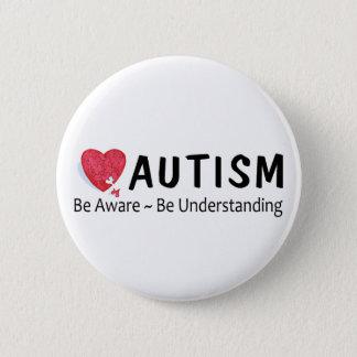 Be Aware Be Understanding (P Hrt) Pinback Button