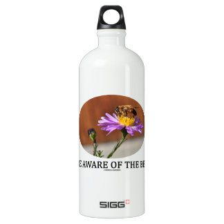 Be Aware Of The Bee (Bee On A Flower) Water Bottle