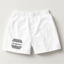 Be Awesome Black and White Geometric Pattern Boxers