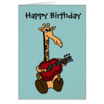 BE- Awesome Giraffe Playing Guitar Cards
