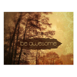 Be Awesome Postcard
