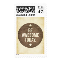 awesome, today, be awesome today, motivationnal, cool, inspire, quote, word, vintage, stamp, dream, art, motivation, motivational stamp, stars, like, quotations, retro, fun, graphic art, postage, Stamp with custom graphic design