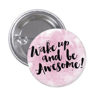 Be awesome watercolor typography badge button