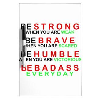 Be Badass Everyday Dry-Erase Whiteboard