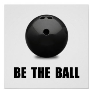 Be Ball Bowling Poster
