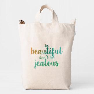 Be Beautiful BAGGU Duck Bag, Canvas Duck Bag
