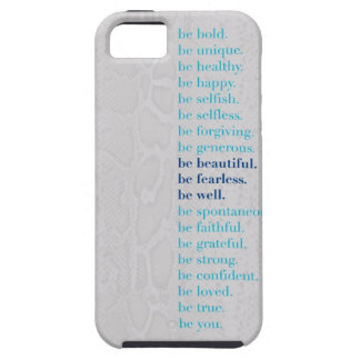 Be Beautiful. Be Fearless. Be Well Iphone 5 case! iPhone SE/5/5s Case