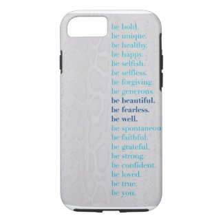 Be Beautiful. Be Fearless. Be Well iPhone 7 case! iPhone 8/7 Case