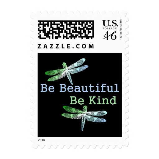Be Beautiful, Be Kind Dragonflies Stamp