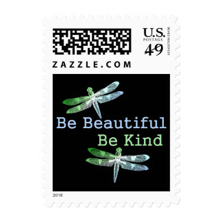 Be Beautiful, Be Kind Dragonflies Postage Stamp