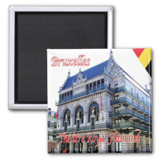 BE - Belgium - Brussels - Royal Flemish Theatre 2 Inch Square Magnet