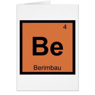 Be - Berimbau Music Chemistry Periodic Table Card