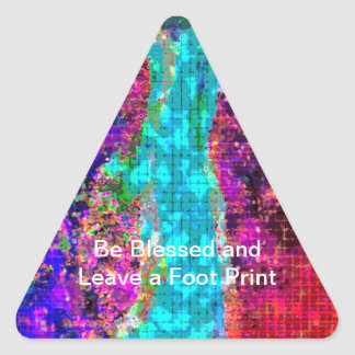 Be BLESSED and Leave a FOOT PRINT Triangle Sticker