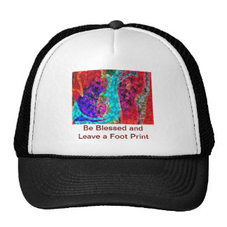 Be BLESSED and Leave a FOOT PRINT Trucker Hat
