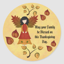 Be Blessed Classic Round Sticker
