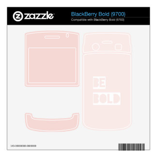 Be Bold - Blush Pink Wise Words Gifts BlackBerry Bold 9700 Skin
