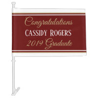 Be bold! Custom graduate car flag