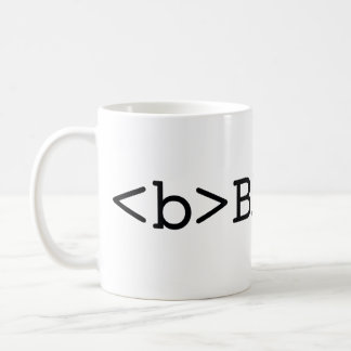 BE BOLD html coffee mug