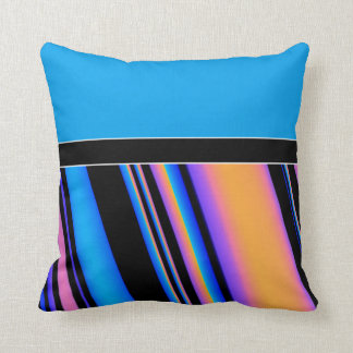 Be Bold - Solid/Striped Pattern Throw Pillow
