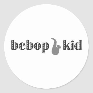 Be Bop Kid Classic Round Sticker