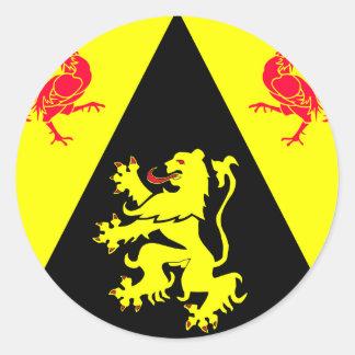 Be Brabant Wallon, Belgium Round Sticker