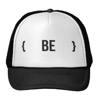 Be - Bracketed - Black and White Trucker Hats