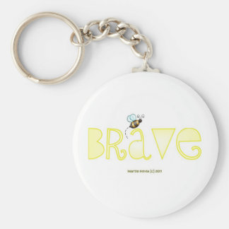 Be Brave - A Positive Word Keychain