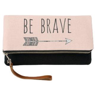 Be Brave Arrow in Blush | Black Clutch
