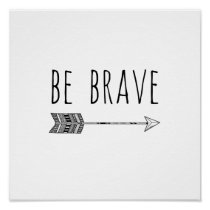 Be Brave Arrow Nursery Print
