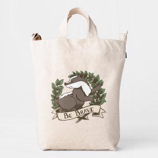 Be Brave Badger Crest Duck Bag
