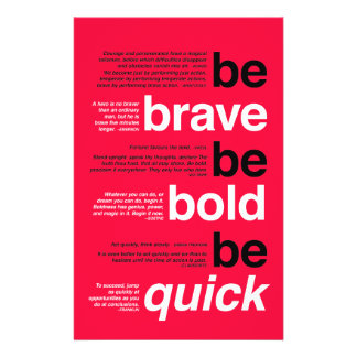 Be Brave. Be Bold. Be Quick. Motivational Quotes Flyer