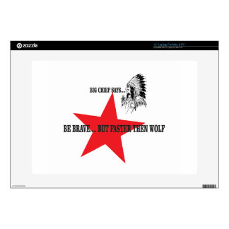 """be brave but faster then wolf decal for 15"""" laptop"""