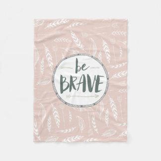 Be Brave Feather & Arrows Fleece Blanket