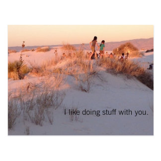 Be brave.  Just tell them you like being together. Postcard