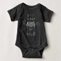 Be Brave Little One Arrow Pattern Baby Bodysuit